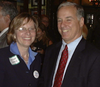 Christine Cegelis and Howard Dean